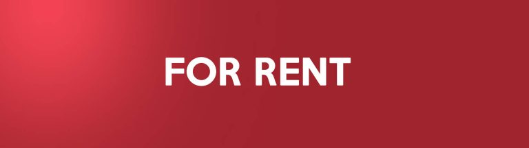 For rent on a red background