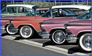 Image of used cars in a line up with caption Stockton Wheels