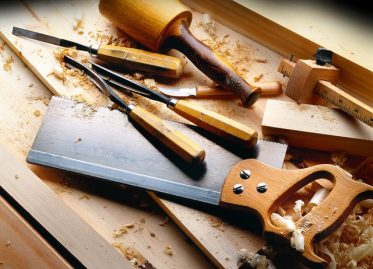 Tools on a table representing Edmonton Carpenters