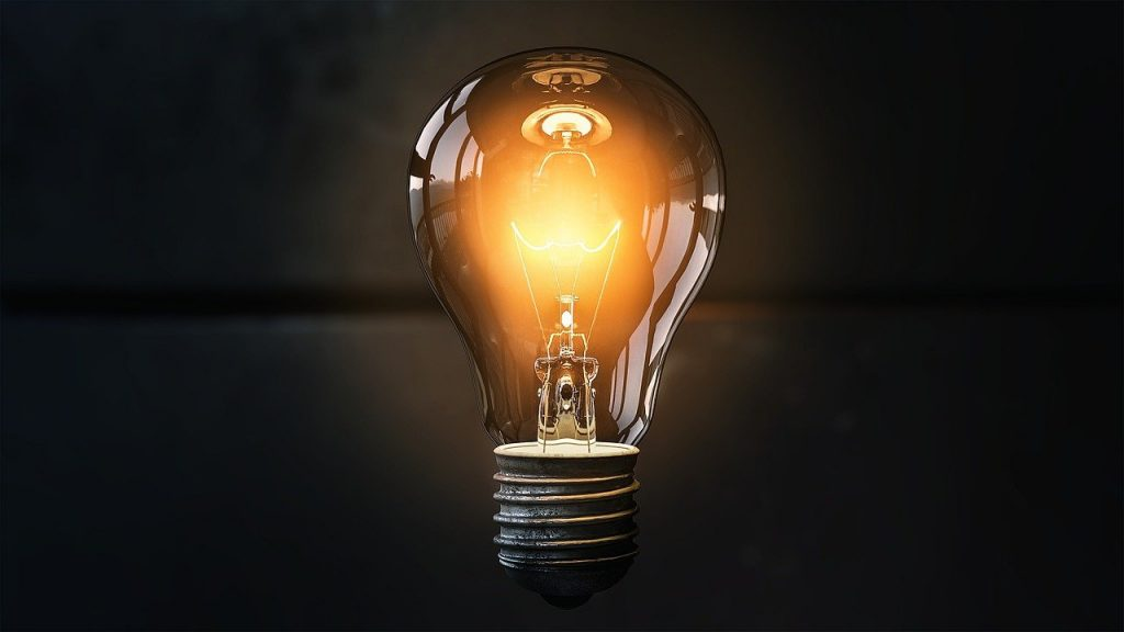 Image of light bulb with caption Vocabulary of Success
