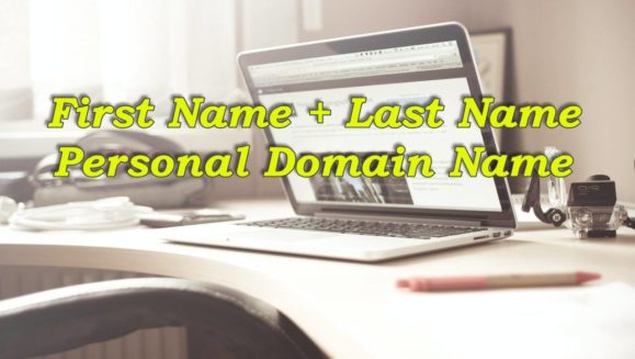 First name and last name personal domain name.